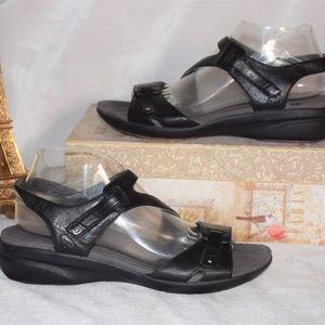 DANSKO Leather Ankle Strap Velcro Sandals Sz 40
